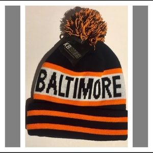 Baltimore Knit Hat w/ Orioles Colors